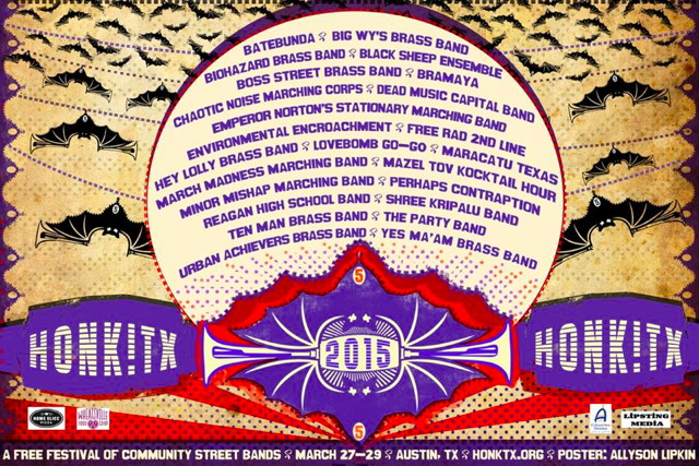 honk texas 2015 band line-up